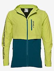 2XU - GHST Woven 2 In 1 Jacket-M - træningsjakker - wild lime/corsair - 0