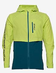2XU - GHST Woven 2 In 1 Jacket-M - træningsjakker - wild lime/corsair - 1