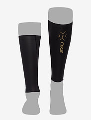 2XU - LIGHT SPEED COMPRESSION CALF - leg støtte - black/gold - 2