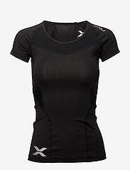 2XU - Compression S/S Top-W - t-shirts - black/black - 0