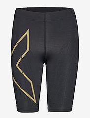 2XU - MCS Run Comp Shorts-W - træningsshorts - black/gold reflective - 0