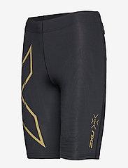 2XU - MCS Run Comp Shorts-W - træningsshorts - black/gold reflective - 2