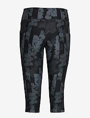 2XU - Print MidRise Pocket3/4Comp-W - compression tights - geo stripe/black - 1