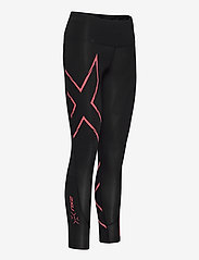 2XU - LIGHT SPEED MID-RISE COMPRESS - sportleggings - black/cranberry reflective - 2