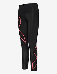 2XU - LIGHT SPEED MID-RISE COMPRESS - sportleggings - black/cranberry reflective - 3