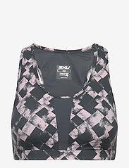 2XU - Perform Medium Impact Crop-W - sort bras:high - textured blossom c/turbulence xxs - 1