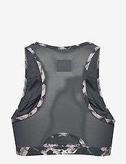 2XU - Perform Medium Impact Crop-W - sort bras:high - textured blossom c/turbulence xxs - 2