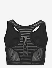2XU - BREEZE MESH CROP - navel shirts - black/black - 1
