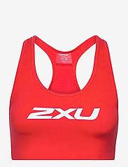 2XU - MOTION RACERBACK CROP - sport bras: medium - high risk red/white - 0