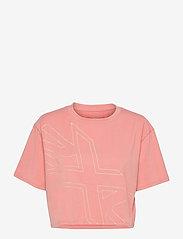 2XU - FORM CROP TEE - navel shirts - rosette/sherbert - 0