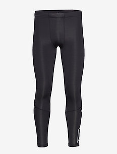 Run Comp Tights w/Back Storage-M - juoksu- & treenitrikoot - black/silver reflective