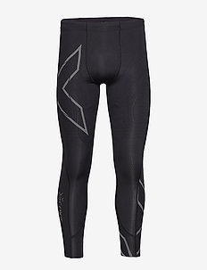 MCS Run Comp Tight w Back Stor - BLACK/BLACK REFLECTIVE