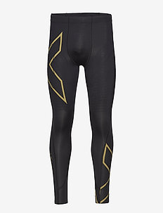 MCS Run Compression Tights-M - running & training tights - black/gold reflective
