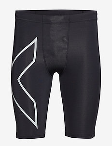 Run Compression Shorts - BLACK/SILVER REFLECTIVE