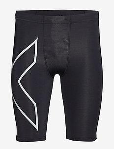 Run Comp Shorts w/Back Storage-M - BLACK/SILVER REFLECTIVE