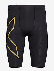 LIGHT SPEED COMPRESSION SHORT - training korte broek - black/gold reflective