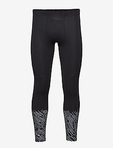 Wind Defence Comp Tights - BLACK/SILVER LIGHTBEAMS REFLECTIVE