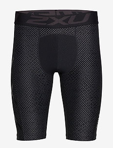Print Accel Comp Shorts-M - TEXTURED MESH CHARCOAL/BLACK