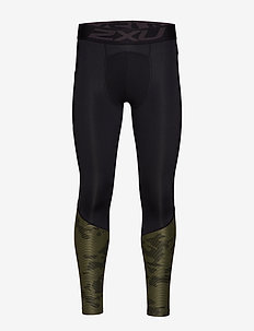 Accel Comp Tight w Storage-M - löpnings- & träningstights - black/linear camo khaki