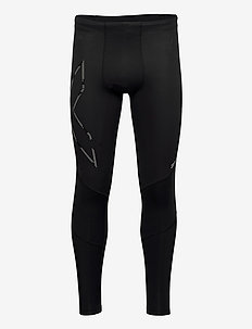 WIND DEFENCE COMPRESSION TIGH - collants d'entraînement - black/striped silver reflectiv