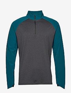 GHST 1/4 Zip Pullover-M - longsleeved tops - corsair/black marle