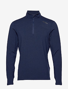 HEAT 1/4 Zip Top - NAVY MARLE/NAVY MARLE
