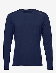 HEAT L/S Top - NAVY MARLE/NAVY MARLE