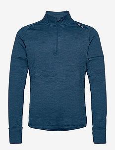 PURSUIT Thermal 1/4 Zip L/S To-M - podstawowe bluzy - poseidon/silver reflective
