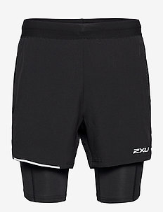 XVENT 2-in-1 5 Inch Short-M - trainingsshorts - black/silver reflective