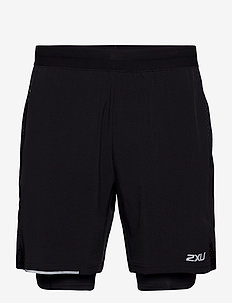XVENT 2-in-1 7 Inch Short-M - trainingsshorts - black/silver reflective