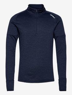 IGNITION 1/4 ZIP - långärmade tröjor - midnight/silver reflective