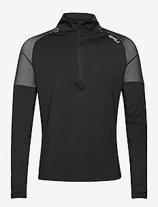 LIGHT SPEED 1/2 ZIP - langaermede-toppe - black/silver reflective