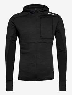IGNITION HOODED MID-LAYER - mellanlager - black/silver reflective