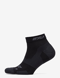 Vectr LightCush 1/4Crew Sock-U - BLACK/TITANIUM