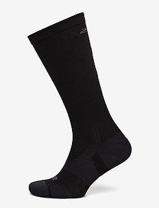 VECTR Light Cushion Full Length Socks-U - BLACK/TITANIUM