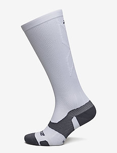VECTR Light Cushion Full Length Socks-U - WHITE/GREY