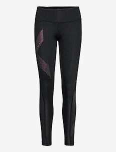 MOTION MID-RISE COMPRESSION T - sportleggings - black/cranberry