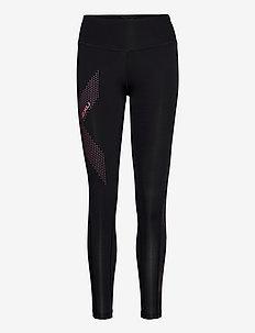 MOTION MID-RISE COMPRESSION T - löpnings- och träningstights - black/dotted pink lift