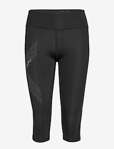 Mid-Rise Comp 3/4 Tights-W - kompressionstights - black/dotted reflective logo