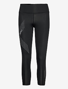 MOTION MID-RISE COMPRESSION 7 - sportleggings - black/dotted reflective logo