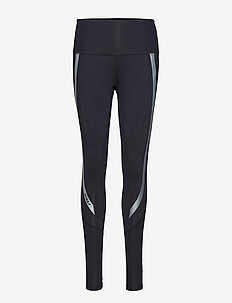 Hi-Rise Compression Tights - BLACK/SILVER