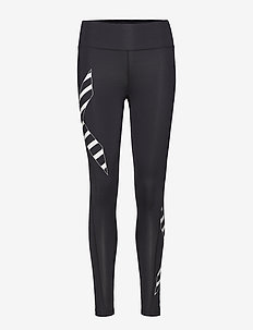 BONDED MidRise Comp Tights - BLACK/PAINT STRIPES WHITE