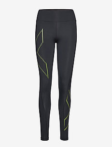 BONDED MidRise Comp Tights - BLACK/FRACTURE OLIVE BRANCH