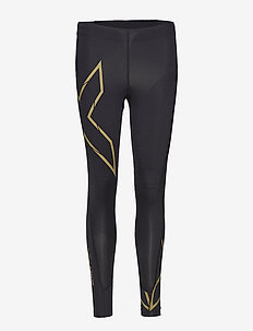 MCS Run Compression Tights-W - kompressiotrikoot - black/gold reflective
