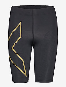 MCS Run Comp Shorts-W - spodenki treningowe - black/gold reflective