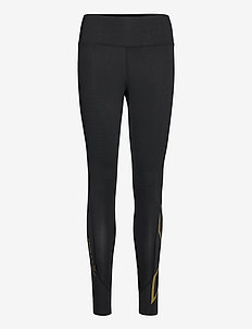 FORCE MID-RISE COMPRESSION TI - sportleggings - black/gold