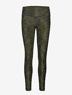 Print Mid-Rise Comp Tights-W - REVERSE MESH OLIVE/BLACK