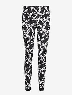 PrintFitnMidRiseComp Tights-W - compression tights - textured check black/white
