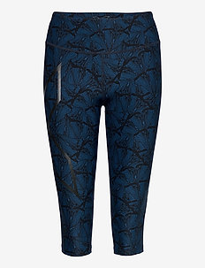 Print Mid-Rise Comp 3/4 Tights-W - kompressionstights - butterfly effect poseidon/nero