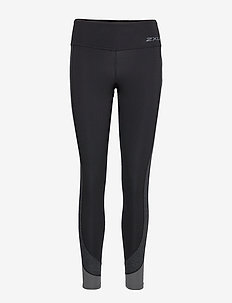 Fitness Mid-Rise Line Up Tight - BLACK/WAVE SPOT CHARCOAL